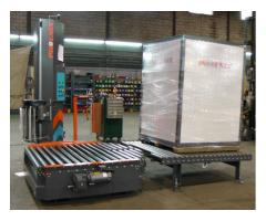 PCTA-2000 Forklift Loaded Automatic Pallet Wrapper - Demo Unit - Includes Powered Conveyor