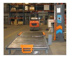 PCTA-2000 Forklift Loaded Automatic Turntable Pallet Wrapper - Demo Unit - Includes Gravity Conveyor