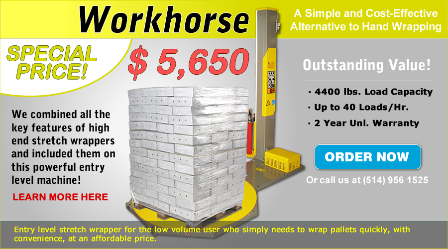 Workhorse pallet wrapper
