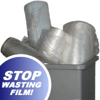 Stop wasting film and use a Semi-Automatic Stretch Wrapper